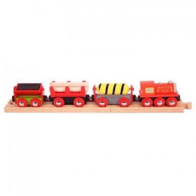 Nákladný červený vlak +  3 koľaje