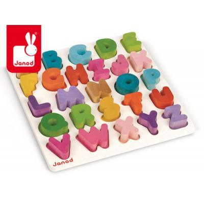 Drevené vkladacie puzzle Abeceda