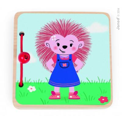 Drevená knižka  Dobrodružstvá malého ježka