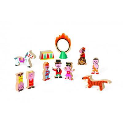 Drevené postavičky a zvieratká  Cirkus