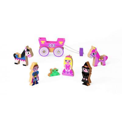 Drevené postavičky a koníky s kočom  Princezná