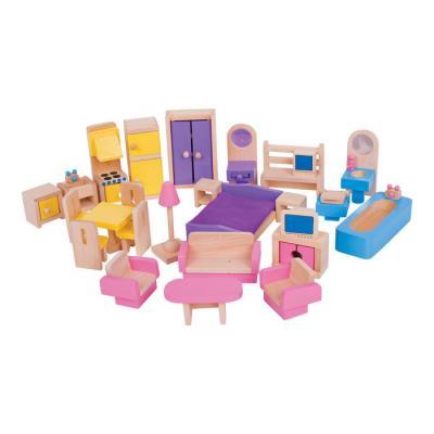Drevený nábytok do domčeka pre bábiky