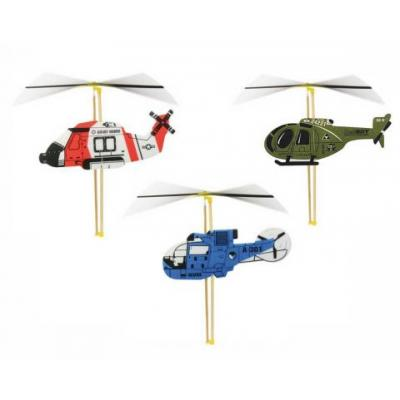 Vrtuľník s naťahovacou vrtuľou