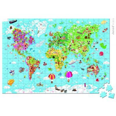 Mapa sveta puzzle