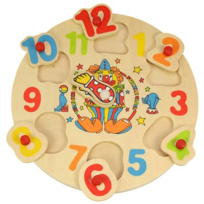 Drevené hodiny puzzle