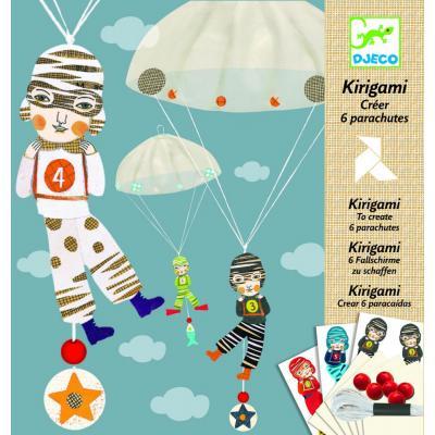 Parašutisti - tvorivá sada Kirigami