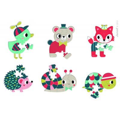 Lesné zvieratká  mini puzzle