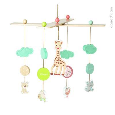 Závesný drevený kolotoč Sophie la Girafe