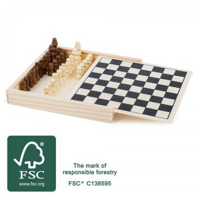 Drevený šach malý