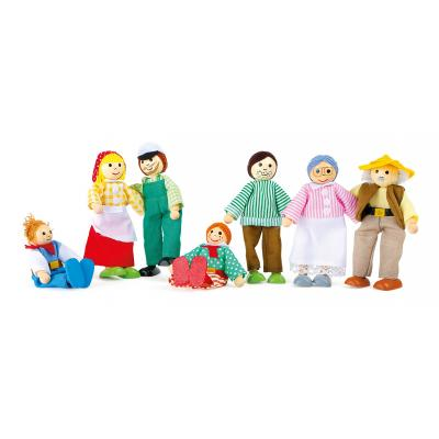 Drevené figúrky -  Farmárska rodinka