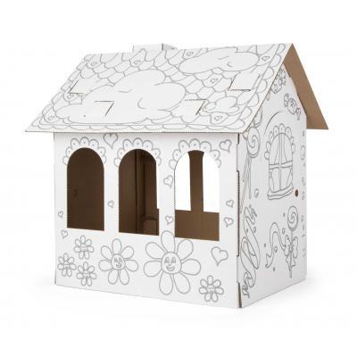 Kartónový domček na vymaľovanie
