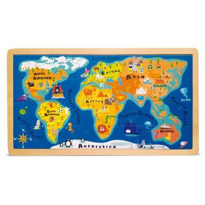 Drevené puzzle Mapa sveta