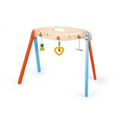 Drevená hrazdička s hračkami