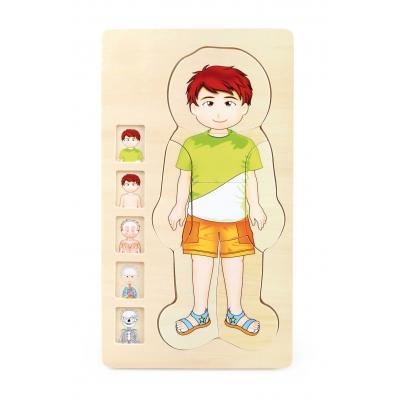 Puzzle Ľudské telo  - chlapček